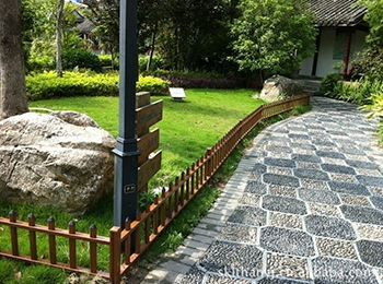 永川园林铝合金仿木栏杆