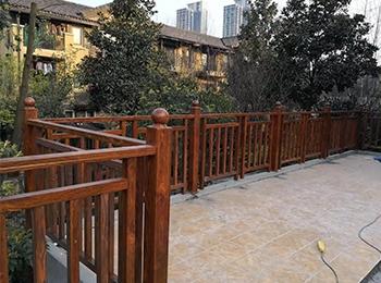 铝合金仿木庭院护栏